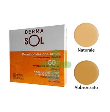 Dermasol Linea Protezione Solare SPF50+ Compatto Protezione Molto Alta Abbronzat