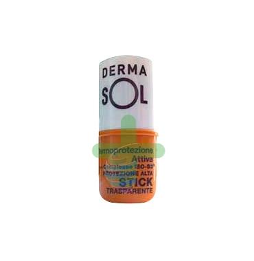Dermasol Linea Protezione Solare SPF30 Stick Trasparente Protezione Alta 5 ml