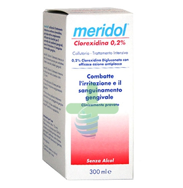 meridol Linea Igiene Dentale Quotidiana Collutorio Clorexidina 0,20% 300 ml