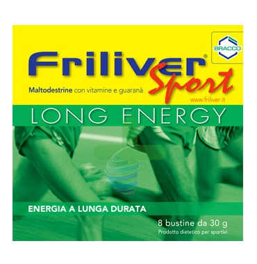 Friliver Linea Vitamine Minerali Sport Long Energy Integratore Alimentare 8Buste