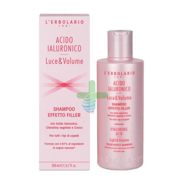 L'Erbolario Linea Luce&Volume Acido Ialuronico Shampoo Effetto Filler 200 ml