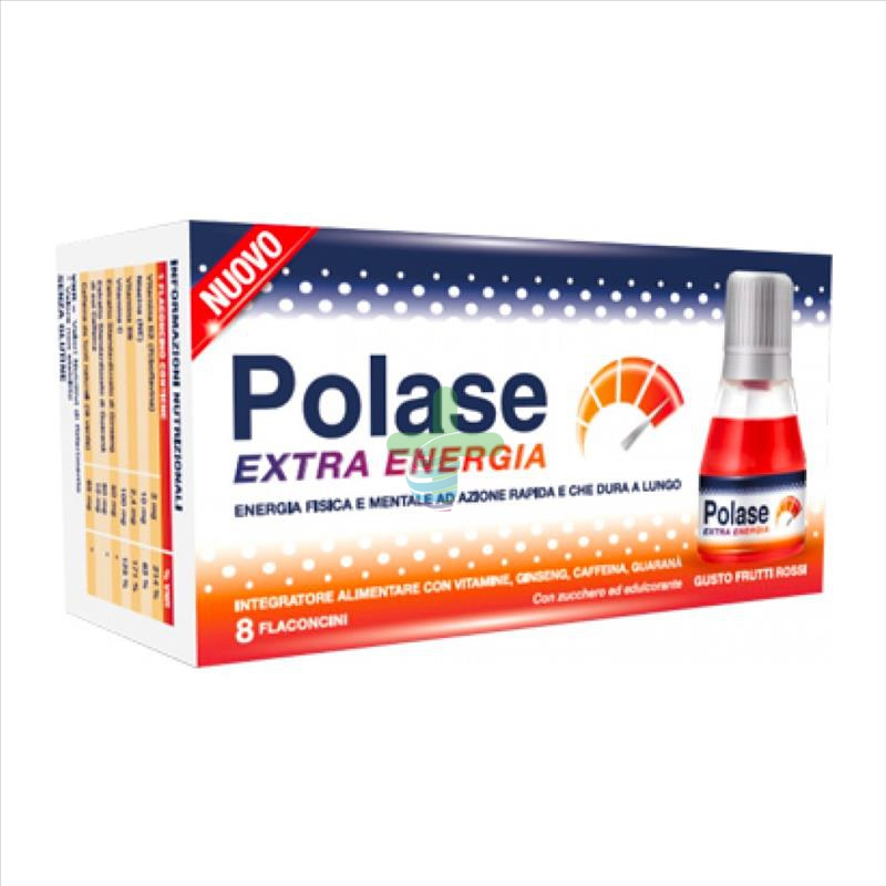 Polase Linea Vitamine e Minerali Polase Extra Energia Integratore 8 Flaconcini